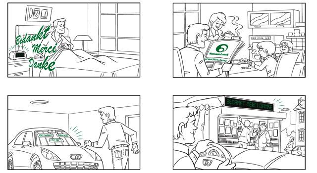 Storyboard voor presentatie product