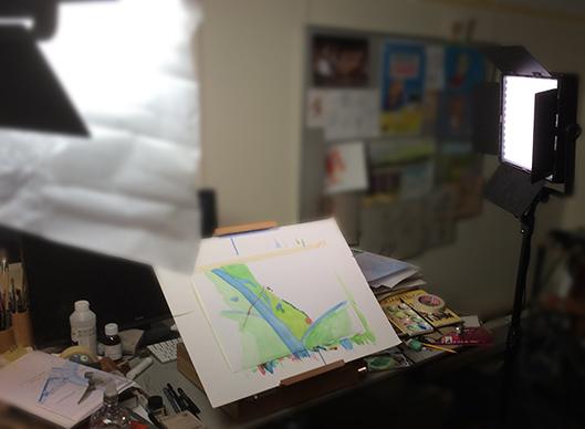Video set-up voor waterverfschildering