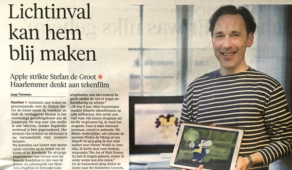 Interview Stefan de Groot voor Olifant