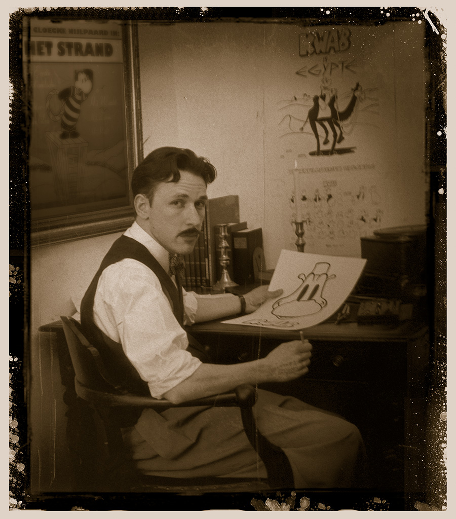 Marinus Hollanders van Teekenfilmfabriek Hollandia. Foto Sjakie Haverkorn