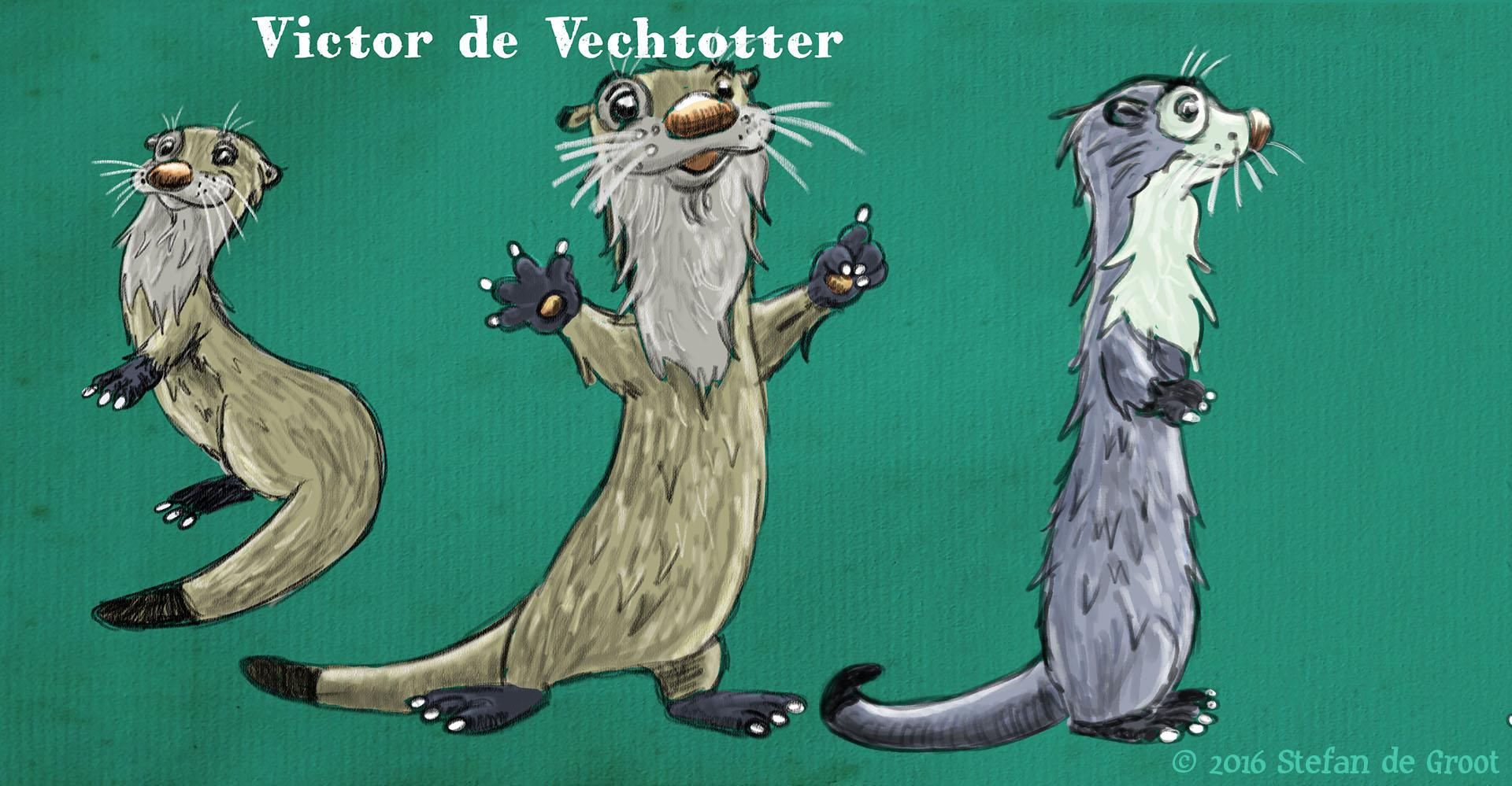 Otter voor Vechtstromen karakter ontwerp