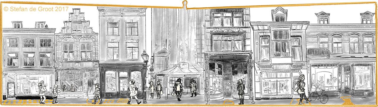 Stefan de Groot ANWB schets 'Gouden Straatjes' Haarlem