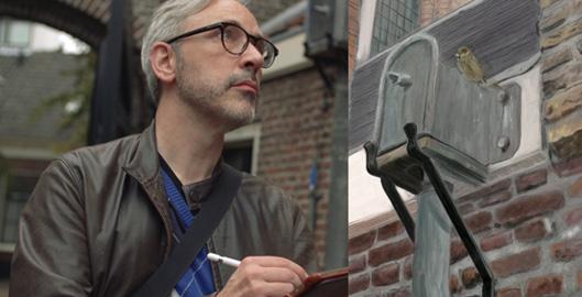 Stefan de Groot Schildert op de iPad