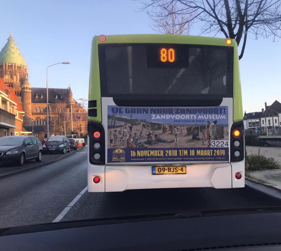 bus reclame Zandvoorts Museum