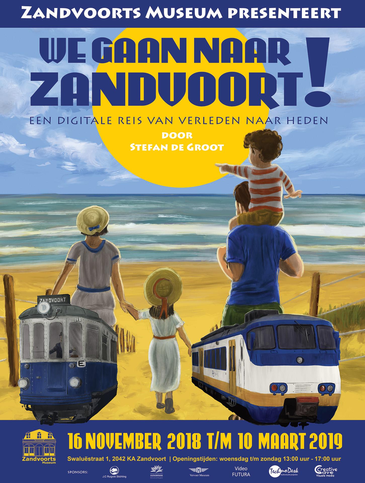 We gaan naar Zandvoort poster