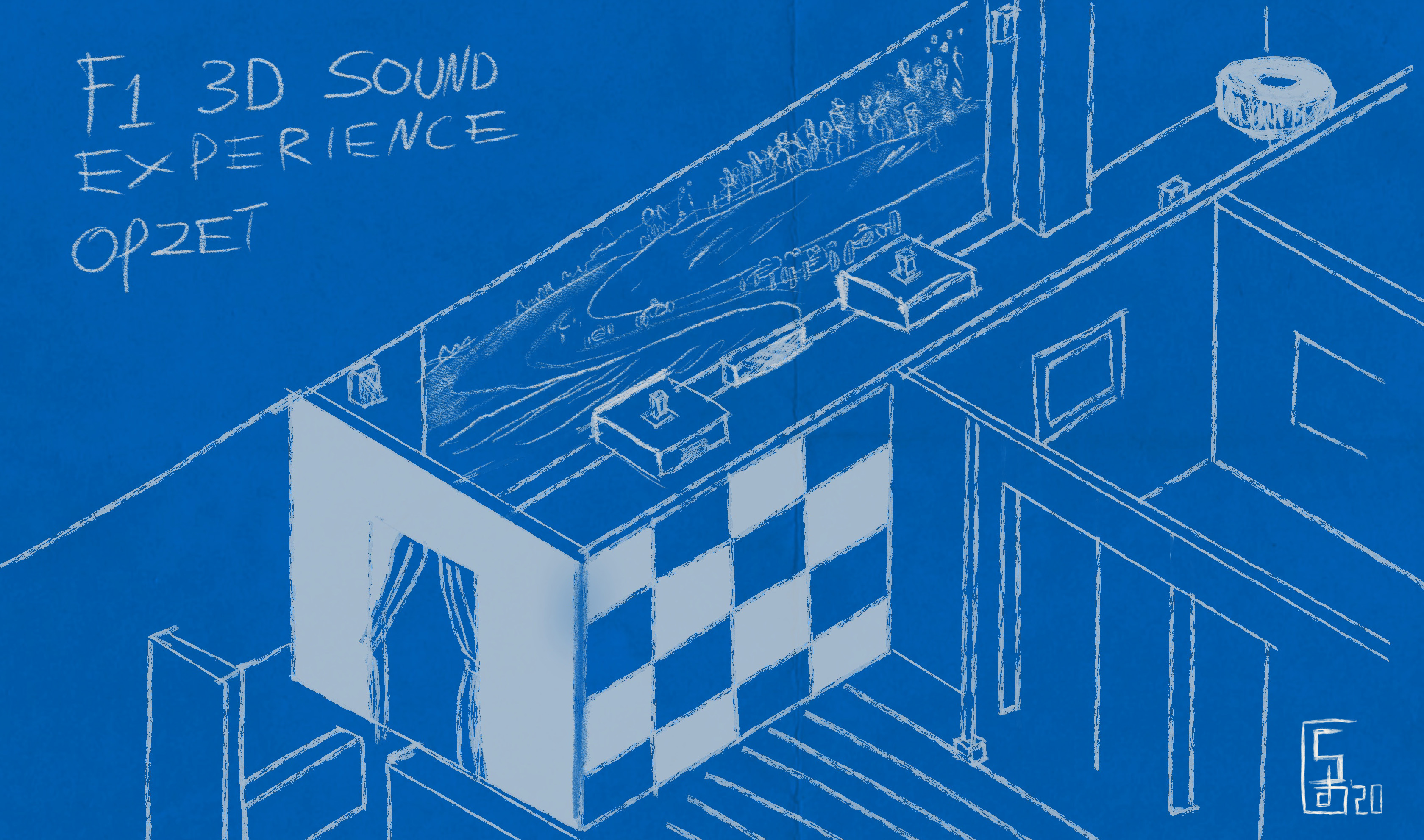 F1 3D Sound Experience conceptekening