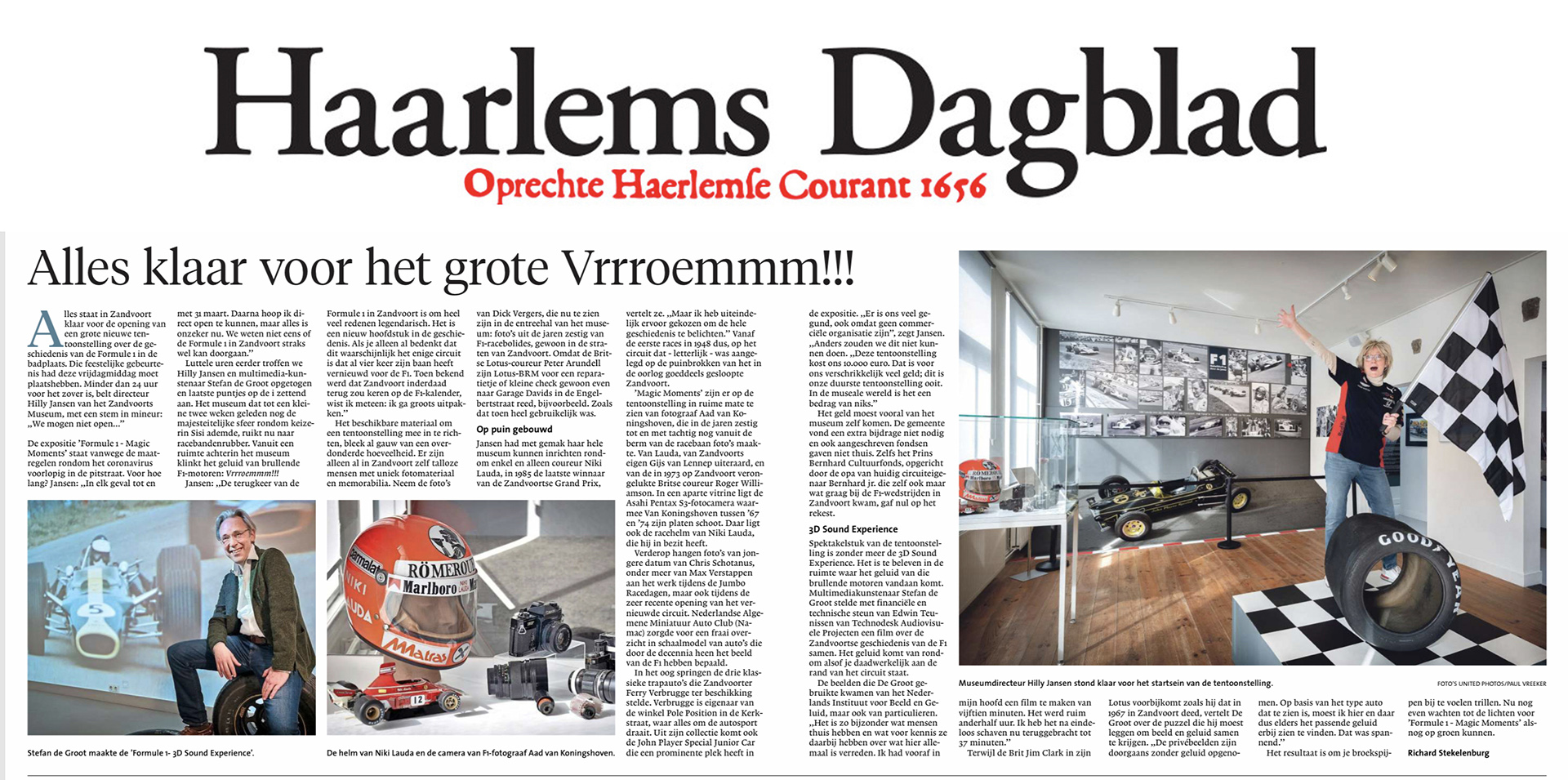 Haarlems Dagblad interview Stefan de Groot