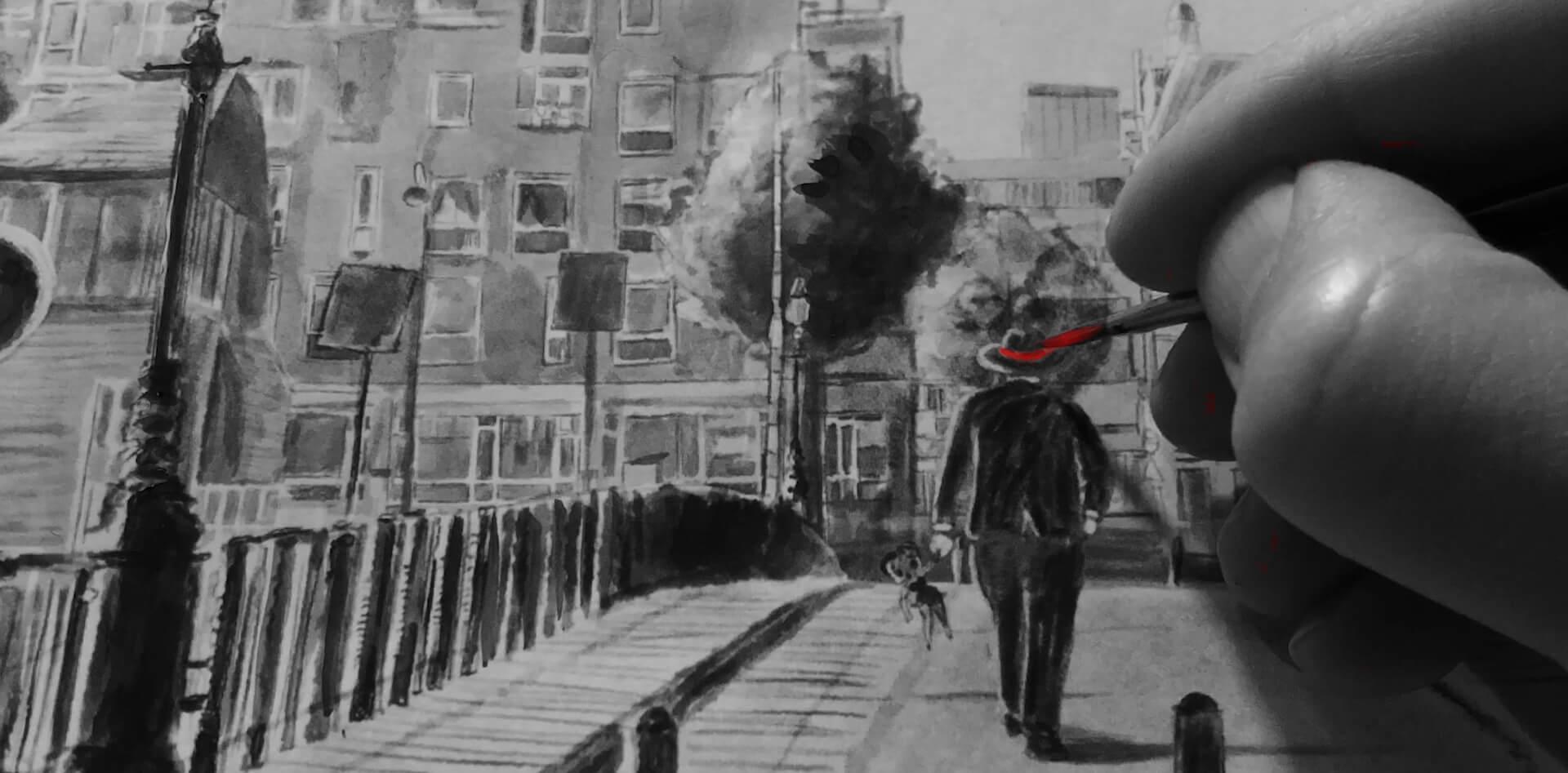 iPad Aquarel schilderij Stefan de Groot